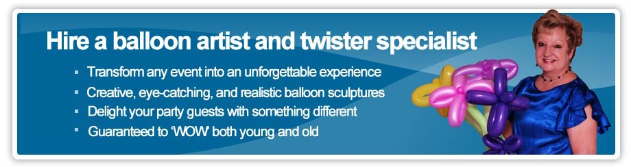 Auckland balloon twister and balloon Sculptures